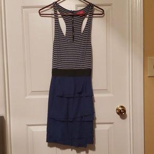 Blue and Grey Sleeveless Elle Dress